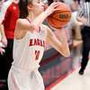 Don Knight | The Herald Bulletin<br /> Frankton's Addie Gardner shoots from the corner as the Eagles faced the Central Noble Cougars in the semi-state at Logansport on Saturday.