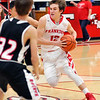 John P. Cleary |  The Herald Bulletin<br /> Knightstown vs Frankton in boys basketball.