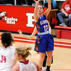 Don Knight | The Herald Bulletin<br /> Elwood's Brookelyn Creamer shoots as the Panthers faced the Eagles in the sectional semifinal at Frankton on Friday.