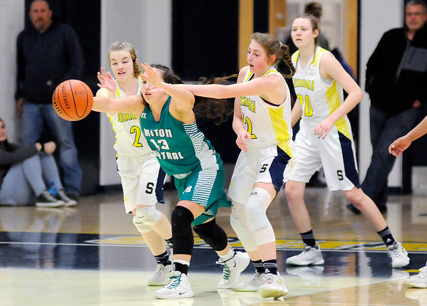 Don Knight | The Herald Bulletin<br /> Shenandoah hosted Triton Central in the sectional final on Saturday.