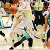 Don Knight | The Herald Bulletin<br /> Shenandoah's Kathryn Perry drives into the lane as the Raiders hosted the Triton Central Tigers in the sectional final on Saturday.