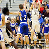 Don Knight | The Herald Bulletin<br /> Lapel's Austin Lyons shoots a three-point shot as the Bulldogs hosted Tipton on Thursday. Lyons had 23 points.