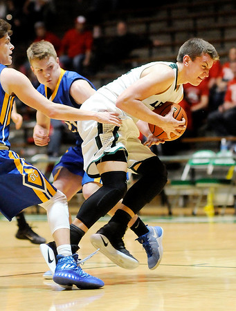 Don Knight | The Herald Bulletin<br /> Pendleton Heights faced Greenfield in the first round of the sectional on Tuesday.