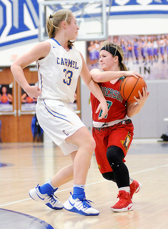 Don Knight   The Herald Bulletin<br /> Anderson faced Carmel in the sectional semi-final at Hamilton Southeastern on Friday.