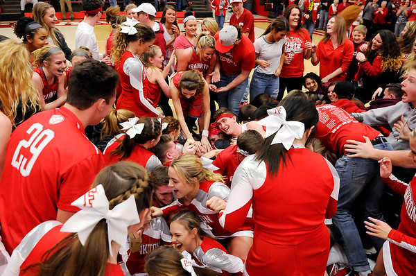 Don Knight   The Herald Bulletin<br /> Frankton hosted Monroe Central in the sectional championship on Saturday.