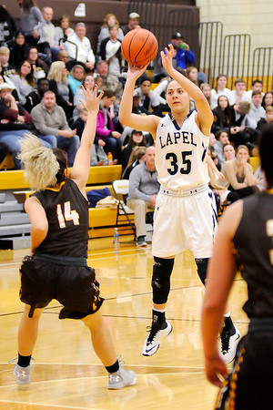 Don Knight    The Herald Bulletin<br /> Lapel faced Monroe Central in the sectional final at Monroe Central on Saturday.