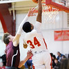 Don Knight   The Herald Bulletin<br /> Liberty Christian's Christian Nunn dunks as the Lions hosted the Tri Titans on Tuesday.