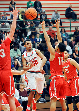 John P. Cleary    The Herald Bulletin<br /> Fishers vs Anderson in boys basketball.