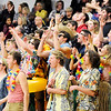 Don Knight | The Herald Bulletin<br /> Shenandoah's Raider Rowdies student section cheers a three-point basket as the Raiders hosted the Lapel Bulldogs on Friday. You can read about the game in today's Sports section.
