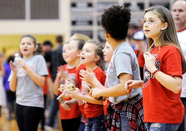 Don Knight | The Herald Bulletin<br /> Frankton fans anxiously wait as one second is put back on the clock after a game winning shot by Maurice Knight in the final seconds of the regional at Lapel on Saturday.