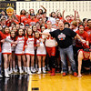 Don Knight | The Herald Bulletin<br /> Frankton's students anxiously await the OK to run on the floor from principal Greg Granger after the Eagles won the regional championship at Lapel on Saturday.