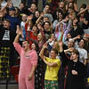 Richard Sitler | For The Herald Bulletin<br /> It appears that many in the Shenandoah High School student cheering section were kept up past their bedtime as they came to the game in their pajamas. That didn't dampen their enthuisasm in cheering their Raiders on to a 43-30 sectional semi-final victory over Eastern Hancock at Knightstown on Friday.