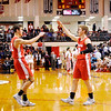 Don Knight | The Herald Bulletin<br /> Colt Litsey salutes Brayton Cain as he is introduced during the semi-state at Lafayette Jeff on Saturday.