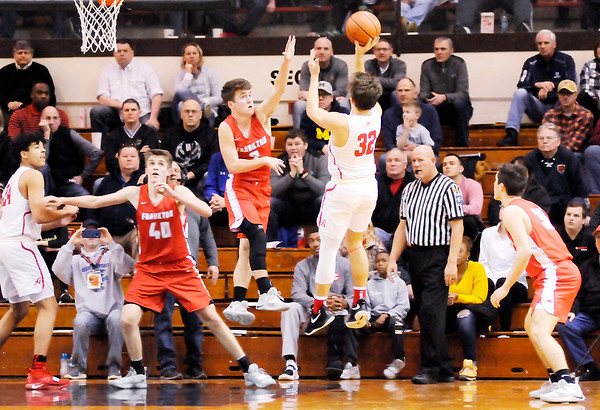 Don Knight   The Herald Bulletin<br /> Frankton faced Andrean in the semi-state at Lafayette Jeff on Saturday.