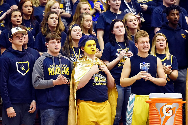 Richard Sitler   for The Herald Bulletin<br /> The Shenandoah Raider cheering section looks somber as the game nears the end. Shenandoah fell to Linton-Stockton 73-56 in the Seymour Semi-State on Saturday.