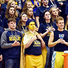 Richard Sitler | for The Herald Bulletin<br /> The Shenandoah Raider cheering section looks somber as the game nears the end. Shenandoah fell to Linton-Stockton 73-56 in the Seymour Semi-State on Saturday.