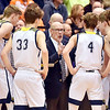 Richard Sitler | for The Herald Bulletin<br /> Shenandoah Coach David McCollough instructs his team during the second half. Shenandoah fell to Linton-Stockton 73-56 in the Seymour Semi-State on Saturday.