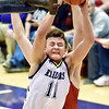 Richard Sitler | for The Herald Bulletin<br /> Shenandoah's Peyton Starks grabs a rebound during the second half. Shenandoah fell to Linton-Stockton 73-56 in the Seymour Semi-State on Saturday.