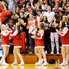 Don Knight | The Herald Bulletin<br /> Frankton fans react after the Eagles hit a three-point basket in the second half as Frankton  beat Marquette Catholic to win the semi-state at Lafayette Jeff on Saturday.