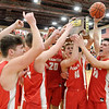 Don Knight | The Herald Bulletin<br /> The Frankton Eagles receive the sectional trophy after beating Wapahani 53-50 in the Class 2A Sectional 40 final at Elwood on Saturday.