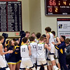 Cheerleaders and students celebrate with the team as the Shenandoah Raiders defeated the Indianapolis Howe Hornets in the IHSAA 2A Boys Basketball Sectional 42 final at Knightstown on Saturday. Shenandoah won 66-50. Richard Sitler photo