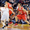 John P. Cleary |  The Herald Bulletin<br /> Frankton HS vs Crawford County HS is the IHSAA 2A boys basketball state finals.