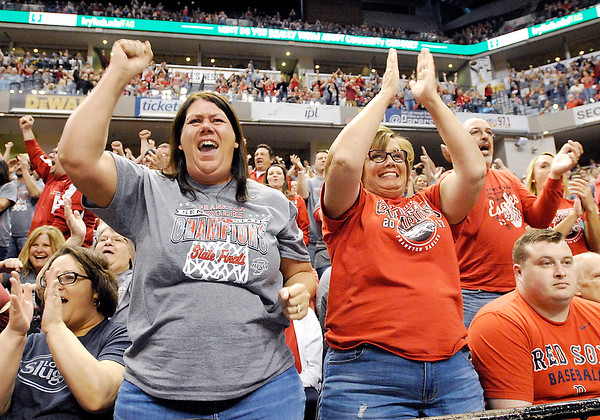 John P. Cleary    The Herald Bulletin<br /> Frankton HS vs Crawford County HS is the IHSAA 2A boys basketball state finals.