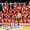 John P. Cleary |  The Herald Bulletin<br /> The IHSAA 2A Boys Basketball State Champions-the Frankton Eagles.