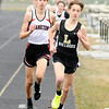 Don Knight | The Herald Bulletin<br /> Lapel's Luke Combs leads the 1600 meter run as the Bulldogs hosted the Frankton Eagles for a track meet on Wednesday.