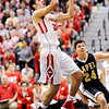 Don Knight | The Herald Bulletin<br /> Frankton's Maurice Knight drives into the lane during the 2A sectional championship at Lapel on Saturday.