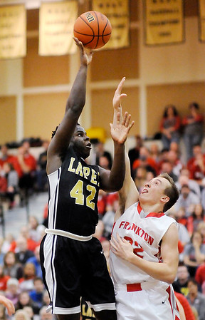 Don Knight   The Herald Bulletin<br /> Frankton wins the 2A sectional championship at Lapel on Saturday.