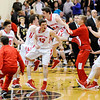 Don Knight | The Herald Bulletin<br /> Frankton celebrates their sectional championship after defeating the Bulldogs  at Lapel on Saturday.