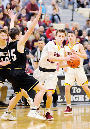 Don Knight   The Herald Bulletin<br /> Alexandria faced Covington in the first round of the regional at Lapel on Saturday.