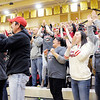 Don Knight | The Herald Bulletin<br /> Frankton fans react as the Eagles win their first round regional matchup against Wabash at Lapel on Saturday.