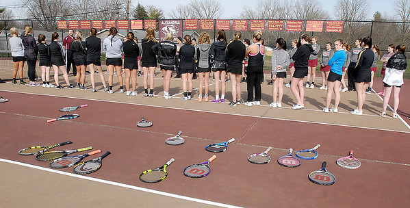 John P. Cleary | The Herald Bulletin  <br /> Lapel vs Alexandria in the County Tennis Tourney.