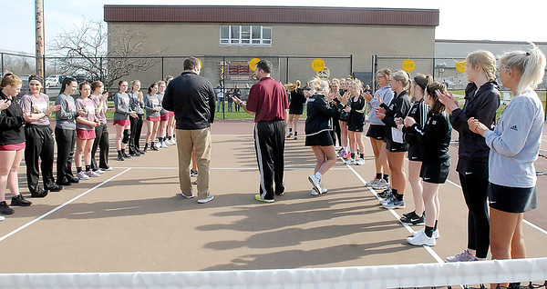 John P. Cleary   The Herald Bulletin  <br /> Lapel vs Alexandria in the County Tennis Tourney.