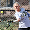 John P. Cleary | The Herald Bulletin  <br /> Lapel vs Alexandria in the County Tennis Tourney. Lapel's no.1 singles player, Maddie Shannon, returns a forehand against Alexandria's Blaine Kelly.
