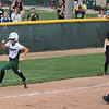 Photo by Chris Martin for The Herald Bulletin.  Pendleton's Savannah Hawhee rounds third base on the way to scoring the games only run against Madison-Grant Saturday.  Pendleton Heights defeated Madison Grant 1-0 to win the 2017 Madison County Tournament.