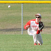 Don Knight | The Herald Bulletin<br /> Frankton's Travis McGuire makes a catch in the outfield as the Eagles hosted the Wapahani Raiders on Tuesday.