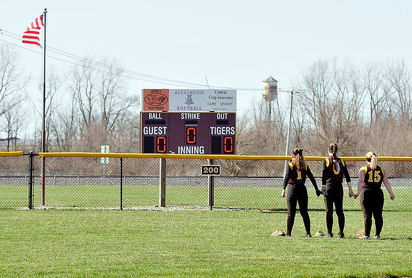 John P. Cleary | The Herald Bulletin  <br /> Frankton vs Alexandria in softball.