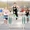 Don Knight | The Herald Bulletin<br /> Lapel's Sean Thompson wins the 110 meter hurdles during the Pendleton Heights Boys Track Invitational on Thursday.