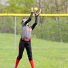 Don Knight | The Herald Bulletin<br /> Liberty Christian's Maddy Mercer catches a fly ball in the outfield as the Lions hosted Bethesda Christian School on Tuesday.