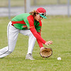 Don Knight | The Herald Bulletin<br /> Anderson's Jackson Stephenson fields the ball as the Indians hosted Hamilton Heights on Thursday.