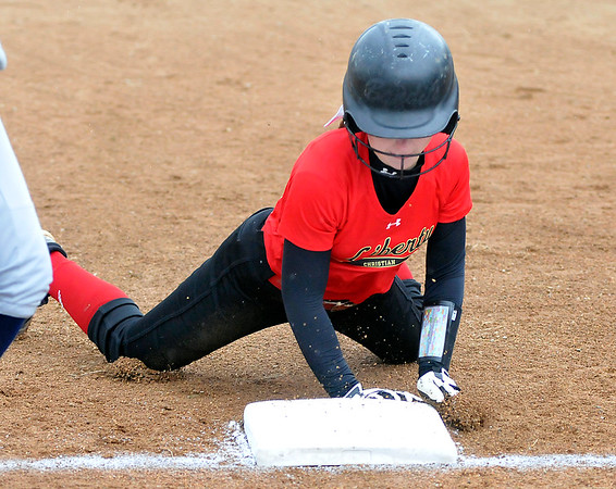 John P. Cleary   The Herald Bulletin  <br /> Liberty Christian vs Seton Catholic in softball.