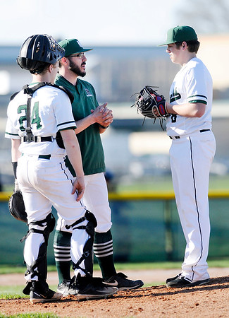 Don Knight | The Herald Bulletin<br /> Pendleton Heights hosted Alexandria in the first round of the Nick Muller Memorial Baseball Tournament on Tuesday.