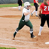 Don Knight | The Herald Bulletin<br /> Pendleton Heights' Kieli Ryan runs to first base as the Arabians hosted New Palestine on Wednesday.
