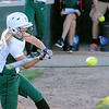 Don Knight | The Herald Bulletin<br /> Pendleton Heights' Lauren Landes drives in two runs to give the Arabians a 5-4 lead in the bottom of the sixth against Martinsville on Friday.