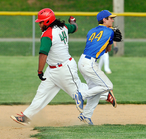 John P. Cleary   The Herald Bulletin<br /> Greenfield-Central vs AHS in baseball.