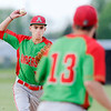 Don Knight | The Herald Bulletin<br /> Anderson's Gavin Barron makes the throw to first after fielding the ball as the Indians traveled to Lapel on Wednesday.