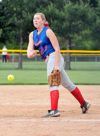 John P. Cleary | The Herald Bulletin<br /> Elwood vs Oak Hill in softball.
